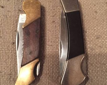 Vintage Pony Lockback knife with bonus Sabre lockback knife