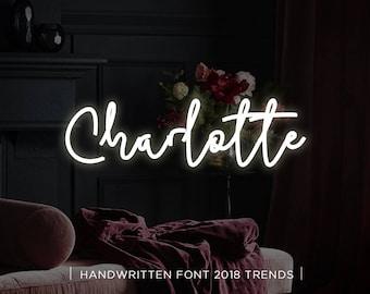 Charlotte digital font download, Calligraphy font, Digital font, Wedding font, Handwritten font, Download digital font, Swirly font, Script