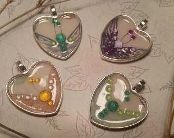 Butterflies in my heart pendant