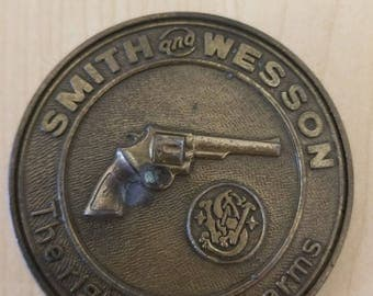 Smith and Wesson Belt Buckle Vintage 1970s