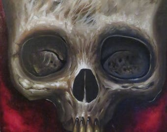 "Oil on canvas board..""death"""