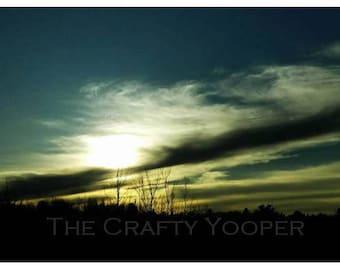 Sunset over Ishpeming, 4x6 print