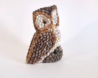 Sea Shell Owl Figurine