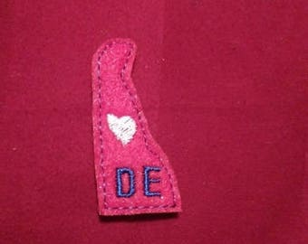 Delaware Feltie Embroidery Design