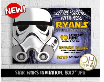 Star Wars invitation, star wars birthday invitations, star wars birthday,star wars party,star wars printable,star wars invitations,star wars