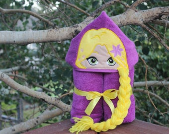 Tangled/Rapunzel Inspired Hooded Towel