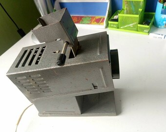 Filmstrip Projector F-3 , Soviet vintage Projector, Diafilm, Filmstrips, Movie projector, Film viewer, Soviet toy, Made in USSR, 1970s