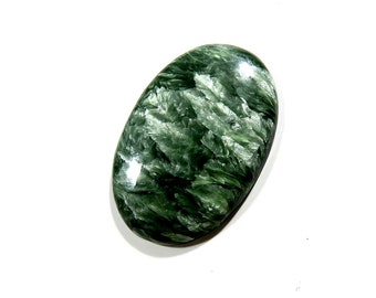 30Cts Russian Serpentine Loose Gemstone Oval Cabochon Excellent!!! Top AAA Quality Natural Russian Serpentine For Jewelry Making 35X23X5mm