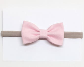 Fabric Hair Bows - Light Pink - Hair Bows - Clips or headbands