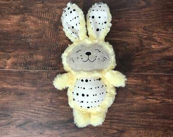 Stuffed Easter Bunny, Stuffed Bunny Rabbit, Yellow Stuffed Bunny, Easter Gift, Stuffed Animal, Bunny Rabbit, Stuffed Rabbit