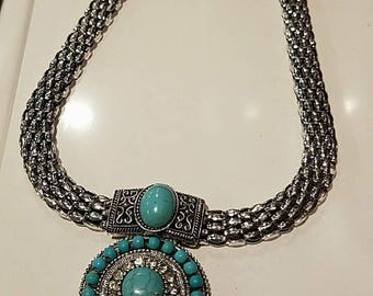 Turquoise/Silver Necklace