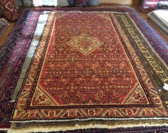 Persian rug vintage 5.0 x 9.5 beautiful piece