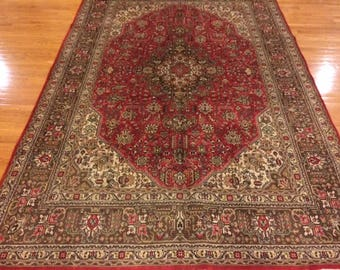 Persian rug semi antique very nice hand knotted wool 6.7 x 9.10