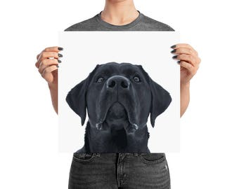 Black Lab Puppy Dog Wall Art Poster Gift For Dog Lover