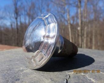 Vintage English Sterling Silver Bottle Stopper