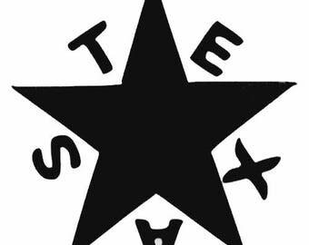 Texas Car Decal Etsy - Vinyl decals houston tx