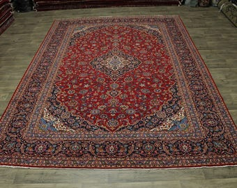 Traditional Handmade S Antique Palace Kashan Persian Rug Oriental Carpet 10X14