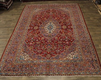 10X14 Stunning S Antique Kashan Persian Wool Rug Oriental Area Carpet 9'5X13'5