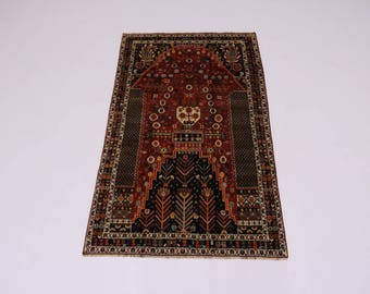 Exceptional Design Handmade Tribal Shiraz Persian Rug Oriental Area Carpet 5X8'5