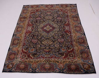 Enchanting Semi Antique Historical Kashmar Persian Rug Oriental Area Carpet 9X13
