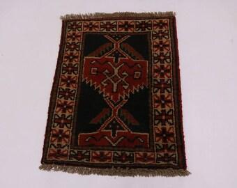 Stunning Design Original Handmade Ghoochan Persia Area Rug Oriental Carpet 2X3