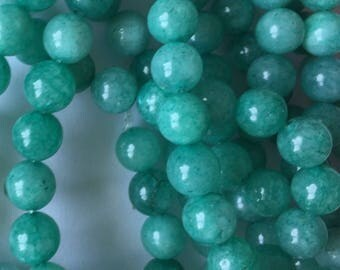 8mm Green Amazonite Beads (20 pieces)
