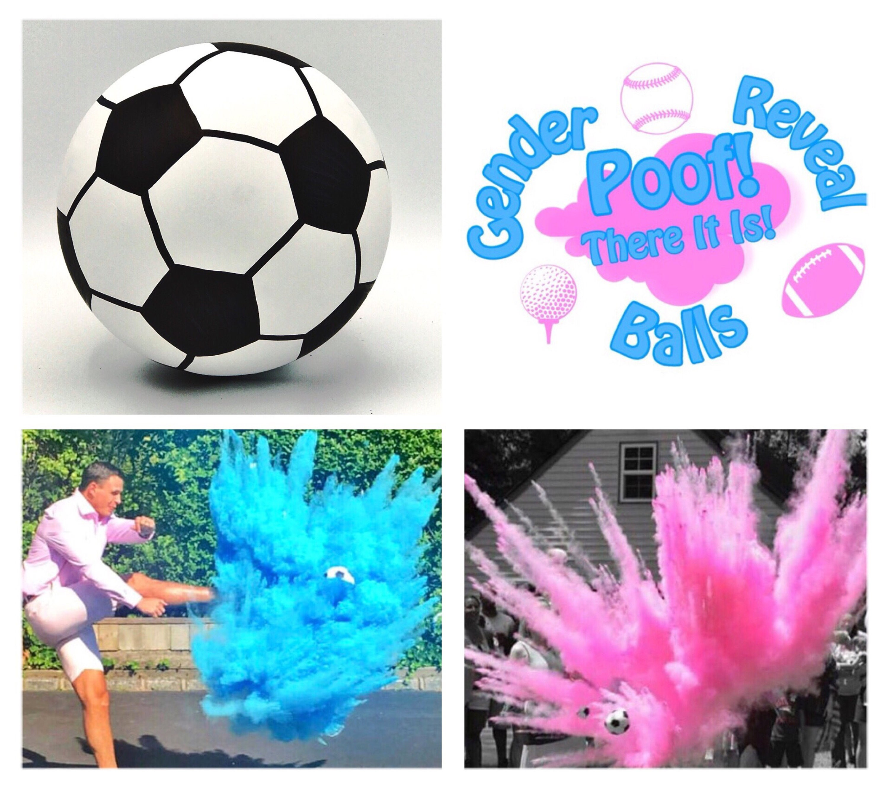 Color Powder Gender Reveal >> 6.25 SOCCER BALL Gender Reveal Soccer Gender Reveal