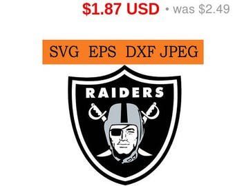 Sale 25%  -  Oakland Raiders logo in SVG / Eps / Dxf / Jpg files INSTANT DOWNLOAD!