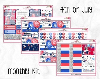 4th of July - July Monthly Kit - Erin Condren