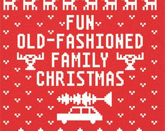 Ugly Christmas Vacation Sweater T-shirt Transfer Instant Download & Print