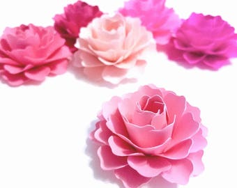 "2"" Pink Paper Flowers 
