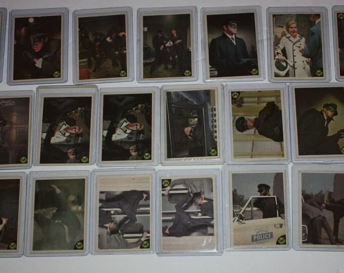 Vintage Lot of 25 Green Hornet Trading Cards 1966
