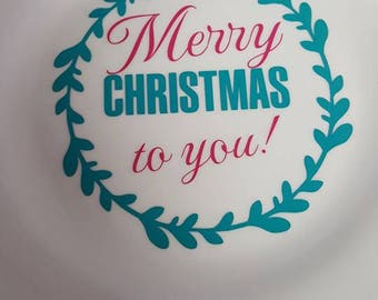 Christmas plates with monogram customize your own plate