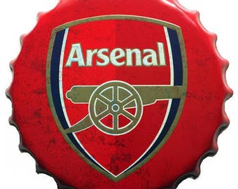 Arsenal FC - Large Vintage Bottle Top Wall tin