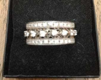 Sterling Silver and Cubic Zirconia Band Ring
