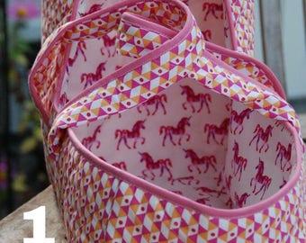 Fabric basket/baskets for dolls, Christmas gift girl