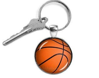Basketball Key Chain Basketball Key Ring Basketball  Keyfob Sports Jewelry