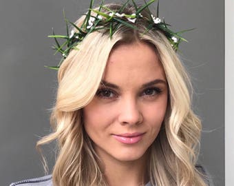 White Wedding Hair Wreath Flower Crowns boho wedding wreath bridal flower crown wedding crown bridal headband rustic crown bridal headpiece