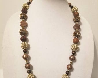 Brown and Gold Necklace