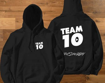 Kids Size Official Team 10 Official Hoodie Unisex Team 10 JP t-shirt best price fast shipWe  have size for kids