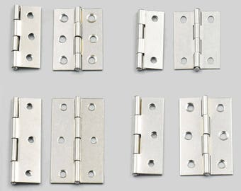 5 Pcs Cabinet Drawer Door Stainless Steel Butt Hinges Furniture Hardware With Screws