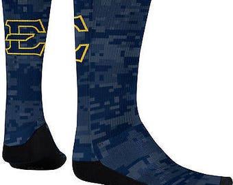 Men's East Tennessee State University Digital Sublimated Socks (ETSU)