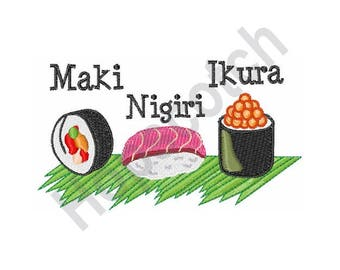 Sushi - Machine Embroidery Design