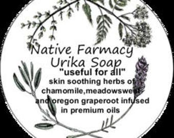 Natural skincare/organic soap/dry /moisturizing soap/eczema/Native american/Urika Soap//native word meaning (useful for all) handmade soap