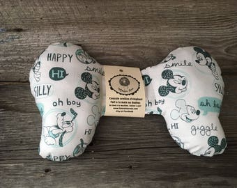 Pillow cushion elephant ears for baby in the tee-Mickey Mouse turquoise car seat