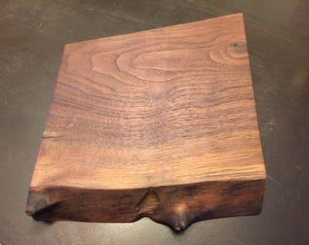 Live edge walnut slab cutting board