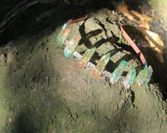 green goddess quartz crystal crown