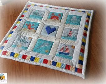 Patchworkdecke cuddly blanket Blanket crawler blanket
