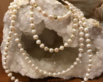 Pearl necklaces and bracelet