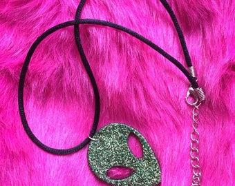 Glittery resin alien choker/ necklace